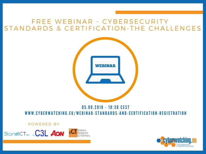 Free Webinar Cybersecurity Standards And Certification The